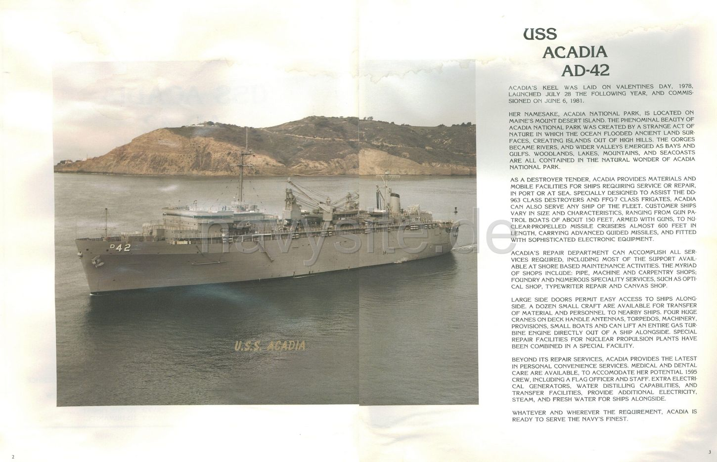 USS Acadia (AD 42) WestPac Cruise Book 1985 - Introduction