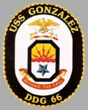 Crest of the USS Gonzalez currently visiting Gibraltar