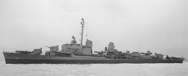 USS Lofberg DD 759 Crew 1945