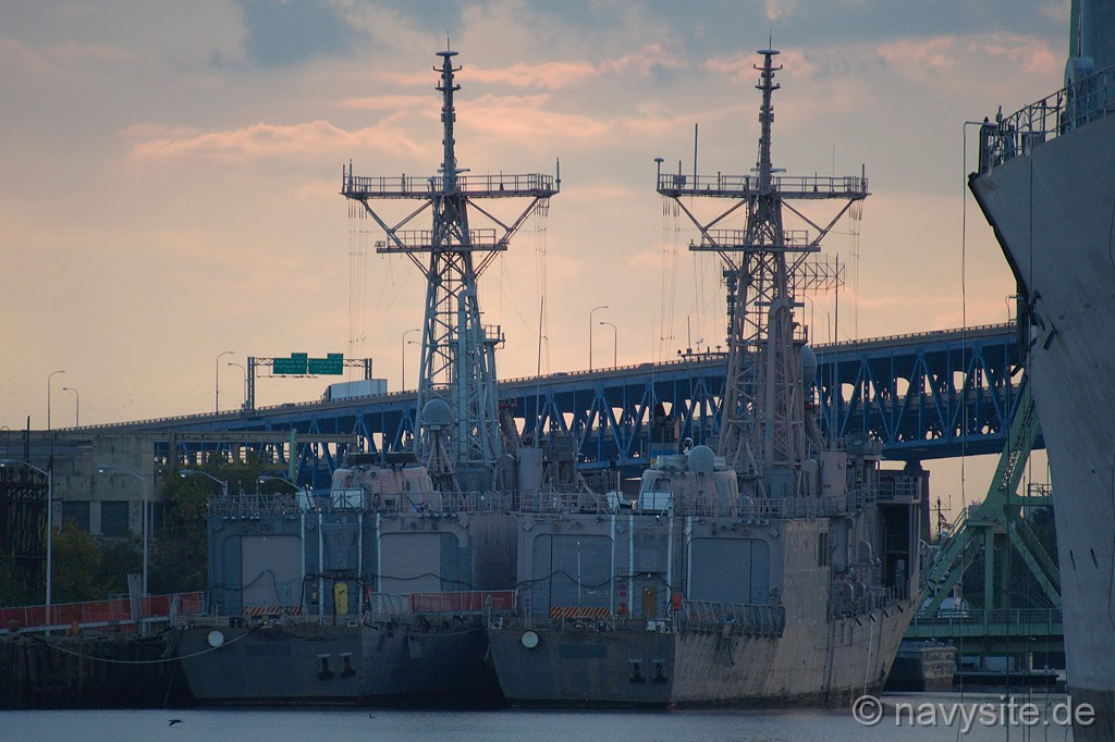 The photos below were taken by Michael Jenning and show the DOYLE laid up alongside her sistership HAWES (FFG 53) at the former Philadelphia Naval Shipyard, ...